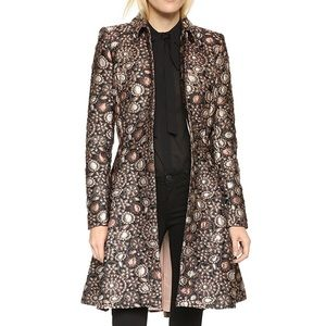 Alice + Olivia Veronika Pleated Flare Coat, sz. XS